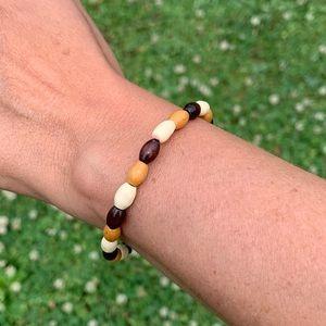 Jewelry - Handmade wood beaded bracelet.